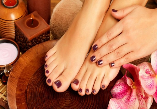 super deluxe pedicure & basic manicure